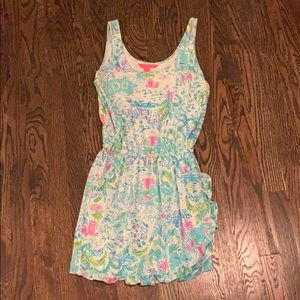 Lilly Pulitzer romper in What A Lovely Place